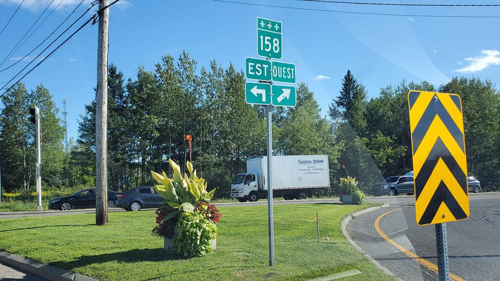 Route 158 St-Canut Mirabel