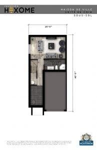 Plan du sous-sol - Maison de ville Faubourg Hexome à St-Canut, Mirabel